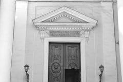 Historiska detaljer för arkitektur av kyrkan Royaltyfria Bilder