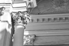 Historiska detaljer för arkitektur av kyrkan Royaltyfria Foton