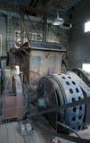 Historiska elektriska muddrar motorn Arkivbild