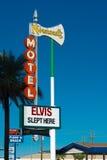 Historiska Elvis Slept Here undertecknar in Las Vegas Royaltyfri Bild