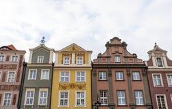 historiska facades arkivbild