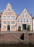 Historiska fasader på den gamla staden av Stade Fotografering för Bildbyråer