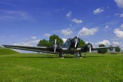 Historiska flygplanbilskrällen JU 52 Royaltyfri Fotografi