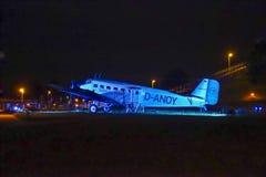 Historiska flygplanbilskrällen JU 52 Royaltyfria Bilder