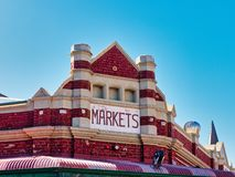 Historiska Fremantle marknader som bygger, västra Australien royaltyfri foto