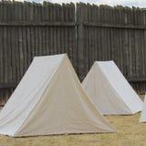 Historiska gamla västra tält royaltyfri bild