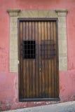 Historiska gammala San Juan - gammala trädörrar Royaltyfri Bild