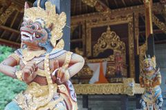 Historiska Hindustan tempelbeskyddanden Royaltyfri Bild