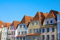 Historiska hus av steyr Österrike Arkivbild