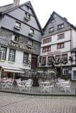 Historiska hus i Monschau Royaltyfri Fotografi
