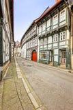 Historiska hus på Goslar Arkivbilder