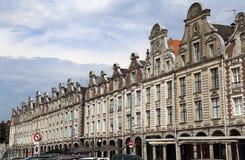Historiska hus på Grand Place i arrasen, Frankrike Royaltyfria Bilder