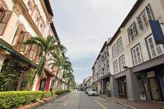 historiska hus peranakan bevarade singapore Arkivfoto