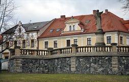 Historiska hus, stad av Kutna Hora, Tjeckien, Europa Fotografering för Bildbyråer