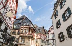 Historiska husfasader i Beilstein på Moselen Royaltyfri Bild