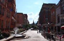 Historiska i stadens centrum Cumberland, Maryland Arkivfoton