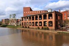 Historiska i stadens centrum Greenville South Carolina Royaltyfria Bilder