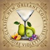 Historiska Iconic klassiska New Orleans coctailar stock illustrationer