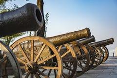 historiska kanoner Arkivbild