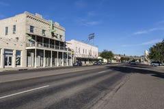 Historiska Kingman Arizona på USA Route 66 Fotografering för Bildbyråer