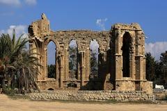 Historiska monument och byggnader i staden av Famagusta, nordliga Cypern Arkivbild