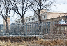 Historiska Nevada State Prison, Carson City Royaltyfri Bild