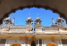 Historiska Paigah gravvalv i Hyderabad, Indien arkivbilder