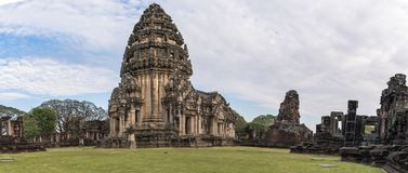 Historiska Phimai parkerar, nakornratchasimaen, Thailand fotografering för bildbyråer