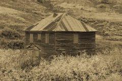 Historiska riktiga Grit Cabin, Hastings Mesa, nära Ridgway, Colorado, Royaltyfria Bilder