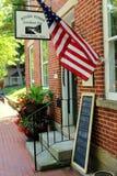Historiska Roscoe Village Coshocton Ohio arkivbild