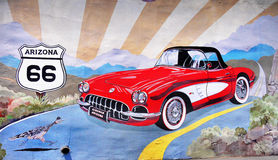 Historiska Route 66 Arizona Arkivbild