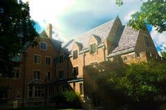 Historiska Ryan Hall, Notre Dame University Royaltyfri Bild