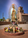 Historiska Santa Fe New Mexico Arkivbilder