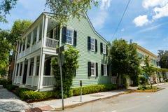 Historiska Savannah Home royaltyfri bild