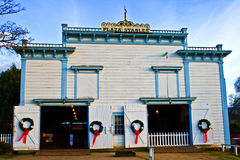 Historiska stall på San Juan Bautista royaltyfria foton