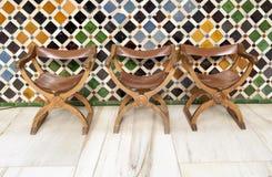 Historiska stolar Royaltyfri Bild