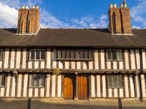 Historiska hus i Stratford på Avon royaltyfri bild