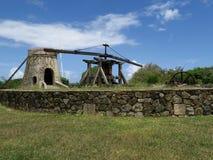 Historiska Sugar Plantation Animal Mill Fotografering för Bildbyråer