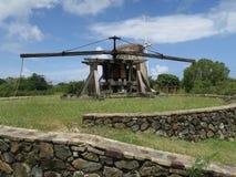 Historiska Sugar Plantation Animal Mill Royaltyfria Foton
