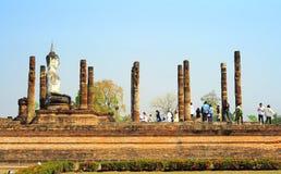 Historiska Sukhotai parkerar Royaltyfria Foton