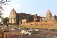 Historiska Thailand parkerar LOPBURI, forntida byggnad Arkivfoton