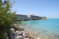 Historiska väggar av hamnen av Hamilton, Bermuda Royaltyfria Bilder
