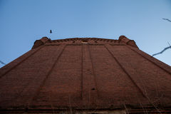 Historiska väggar för röd tegelsten Royaltyfri Foto
