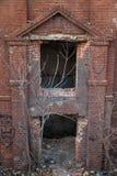 Historiska väggar för röd tegelsten Royaltyfri Fotografi