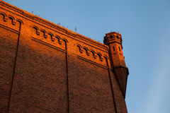 Historiska väggar för röd tegelsten Royaltyfria Foton