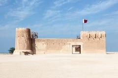 Historiskt Al Zubara fort i Qatar royaltyfri foto