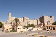Historiskt Bahla fort i Oman arkivbild