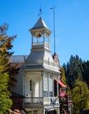 Historiskt brandhus, Nevada City, Kalifornien Fotografering för Bildbyråer