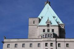 Historiskt byggnadshotell Vancouver Kanada Royaltyfri Fotografi