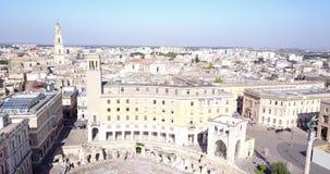 Historiskt centrum av Lecce, Italien stock video